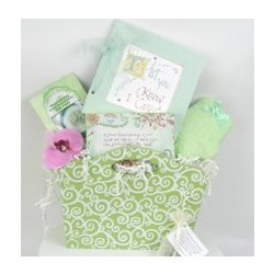 To Let You Know I Care Gift Basket in Green