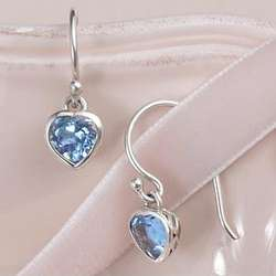 Heart Gemstone Earrings