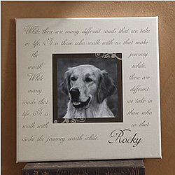 Paw Prints On Our Hearts Photo Memorial Canvas Art