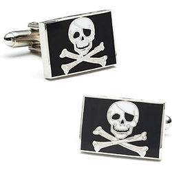 Jolly Roger Pirate Cufflinks