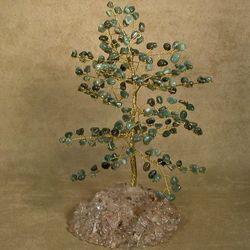 Mystic Green Jade Tree of Life Sculpture