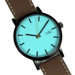 Tan and Teal Design Watch