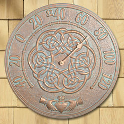 Irish Blessings Copper Verdigris Thermometer