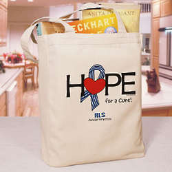 Hope for a Cure ALS Awareness Tote Bag