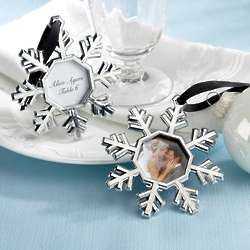 Snowflake Ornament and Wedding Place Card Holders