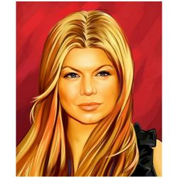 Fergie Pop Art Limited Editions Fine Art Print.