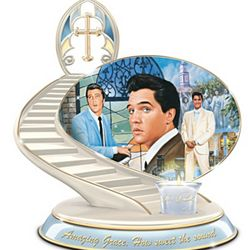 Elvis Presley Gospel Tribute Heirloom Porcelain Candleholder