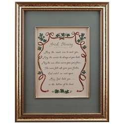 Hand-Painted Irish Blessing Framed Print