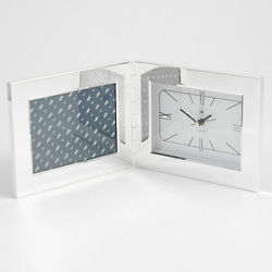Horizontal 3x5 Photo Frame Alarm Clock
