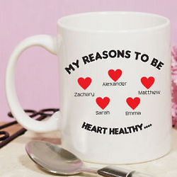 Reasons to be Heart Healthy Ceramic Mug
