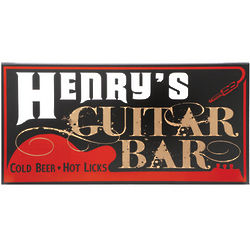 Personalized Guitar Bar Sign
