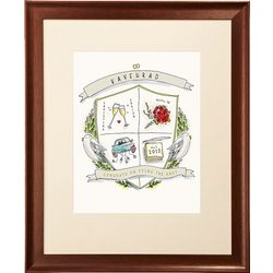 Framed Personalized Wedding Crest