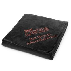 2013 Graduation Black Fleece Blanket