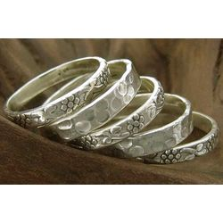 Versatility Sterling Silver Stacking Rings