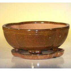 Aztec Orange Ceramic Bonsai Pot