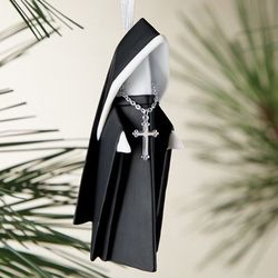 Origami Nun Ornament