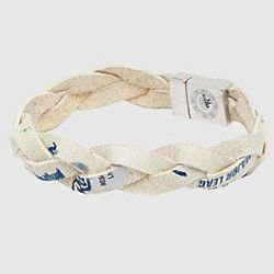 Game Used MLB Ball Woven Bracelet