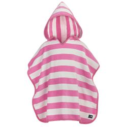 Child's Pink Stripe Hooded Towel