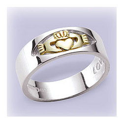 14 Kt. Gold and Silver Claddagh Ring