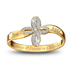 Always & Forever in Christ Personalized Couples Ring