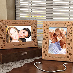 Personalized Make Your Own Hearts Wooden Picture Frame