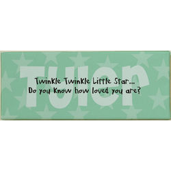 """Twinkle Twinkle"" Personalized Baby Wall Canvas"