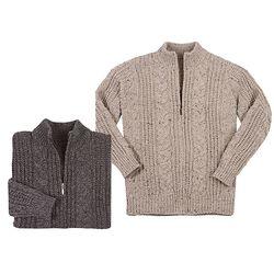 Merino Wool Aran Jacket Cardigan