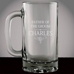 Personalized Wedding Party Glass Mug