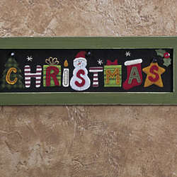 Vintage Christmas Framed Wall
