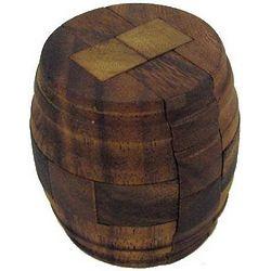 Antique Beer Barrel Wooden Puzzle