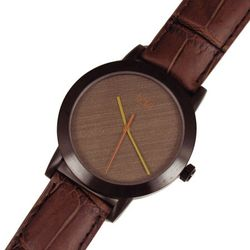 Cream and Brown Design Watch