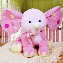 Personalized Pink Elephant Stuffed Animal