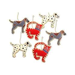 Dogs and Cats Ornament Set