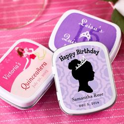 Personalized Quinceanera Mint Tins