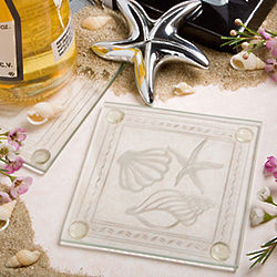 Shell and Starfish Coasters and Bottle Opener