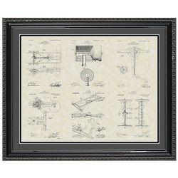 Henry Ford's Model-T Patent Framed Print 20x24