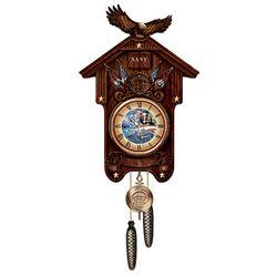 Hour Of Glory U.S. Navy Wood Cuckoo Clock