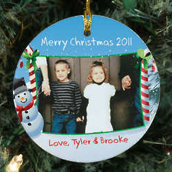 Personalized Ceramic Christmas Photo Ornament