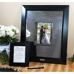 Personalized Signature Picture Frame with Engraved Photo Mat
