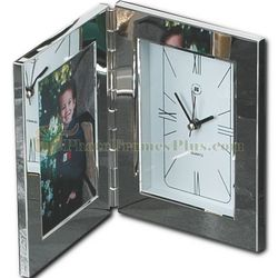 Silver Alarm Clock Picture Frame
