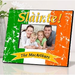 Personalized Irish Flag Picture Frame