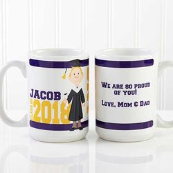 Large Personalized Graduation Coffee Mug