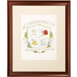 Framed Personalized Anniversary Crest