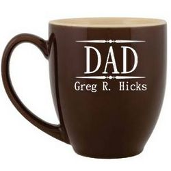 Personalized Dad Full Name Ceramic Coffee Mug