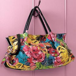 Floral Italian Leather Handbag