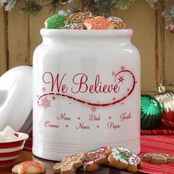 We Believe Personalized Cookie Jar