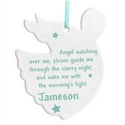 Personalized Crib Angel with Prayer