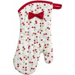 Cherries Retro Oven Mitt with Bow