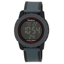 Men's Grey Resin Reverse Display Watch