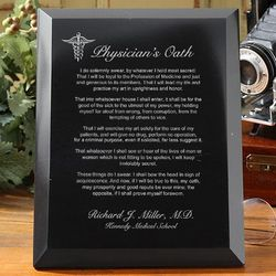 Personalized Physician's Oath Marble Plaque